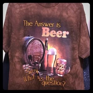 Beer - tie dyed t shirt